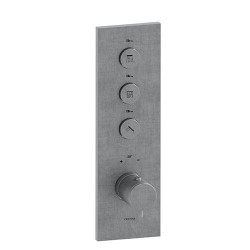 Facade Thermo Up Verticale Thermostatique 3 Sorties Triverde Inox Robinetterie TRIVERDE - CRISTINA ONDYNA XT72328 Facade Thermo