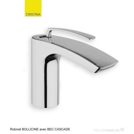Robinet pour lavabo avec BEC CASCADE Bollicine CHROME - CRISTINA ONDYNA  BO22051