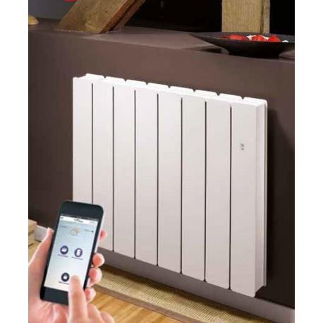 radiateur fonte noirot bellagio smart ecocontrol 1000w horizontal blanc n1683sefs vita habitat. Black Bedroom Furniture Sets. Home Design Ideas
