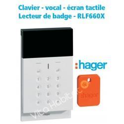 Clavier écran, vocal, lecteur badge Sepio RLF660X - Hager