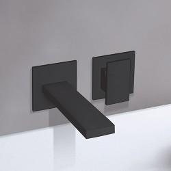 Façade pour mitigeur lavabo mural 2 trous saillie 23 cm Black Mat TABULA - CRISTINA ONDYNA TA25913