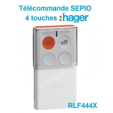 RLF444X Télécommande 4 touches SEPIO (pile fournie) bidirectionnelle  - HAGER