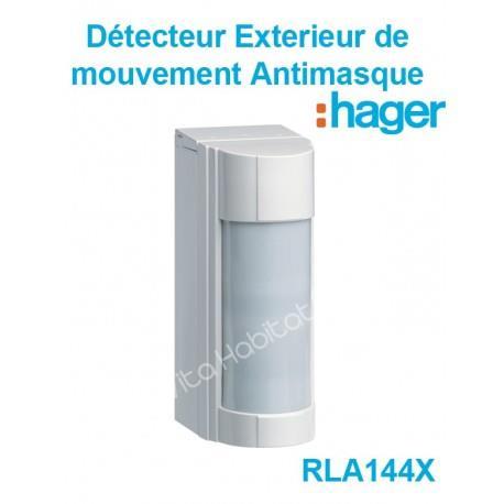 RLA144X Détecteur de mouvement Extérieur Antimasque IP 55 Hager Sepio pile lithium fournie