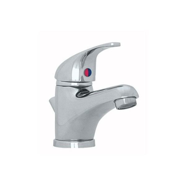 Robinet pour lavabo mono trou MEDELET chromé avec vidage