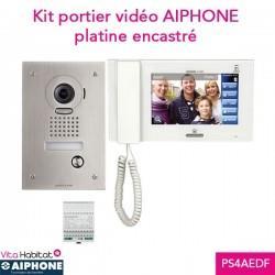 Kit portier Vidéo AIPHONE JPS4AEDF - Ecran 7'' - Platine Encastrée - 130319