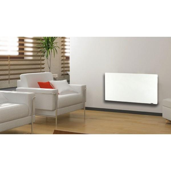 radiateur inertie touch silicium blanc cachemire mimetic 2000w horizontal. Black Bedroom Furniture Sets. Home Design Ideas