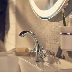 Mélangeur lavabo avec vidage clic-clac Chrome CARMEN - ROCA A5A3A4BC00