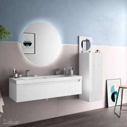 Meuble de salle de bain MONTERREY 1200 1 tiroir métallique BLANC BRILLANT 1197 x 270 x 450 mm - SALGAR 26660 26660SALGAR