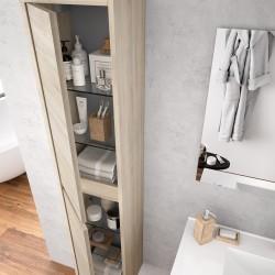 Colonne suspendue de salle de bain Chêne Calédonie NOJA - SALGAR 85174