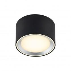 FALLON plafonnier Métal et plastique Noir LED integrée 2700K - Nordlux 47540103