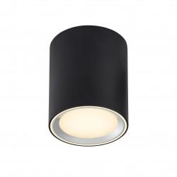 Plafonnier Métal et plastique Noir LED integrée 2700K FALLON LONG - Nordlux 47550103
