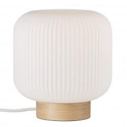 MILFORD lampe de table Verre-Bois Nature Marron E27  - Nordlux 48915001