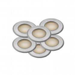 UNE 6-KIT Encastré sol Plastique-Acier inoxydable LED integrée 3000K - Nordlux 45420034