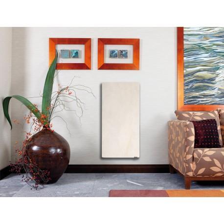 Radiateur inertie SMART STONE Vertical 800W Sable Blanc - Valderoma SB08VES