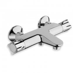 Robinet mitigeur bain douche thermostatique avec poignée en métal chromé - CRISTINA ONDYNA TE15751