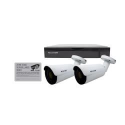 Kit vidéosurveillance IP - COMELIT IPBKIT004S02PA/FR