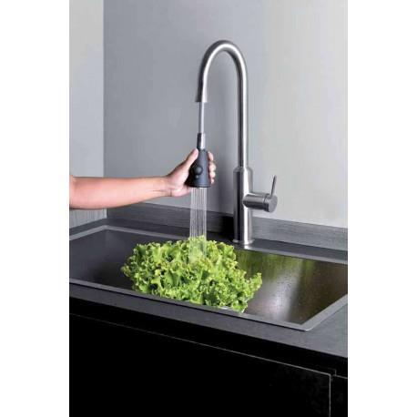 Mitigeur pour évier de cuisine avec douchette bi-jets ALTO PREMIUMS - CRISTINA ONDYNA KX53028