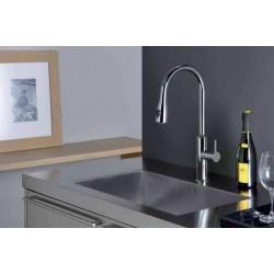 Mitigeur pour évier de cuisine avec douchette bi-jets chrome ALTO PREMIUMS - CRISTINA ONDYNA KU53051