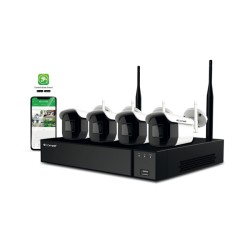 Kit vidéosurveillance Wi-Fi - Comelit WIKIT004S02NB