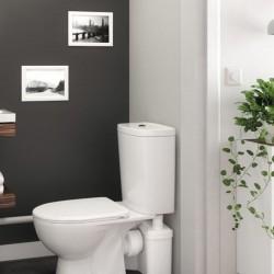 Broyeur et pompe adaptable WC et lavabo 2 entrées - WATERMATIC W12