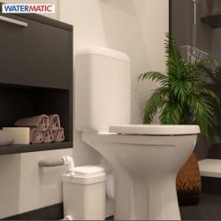 Broyeur pour toute la salle de bain adaptable WC et lavabo 2 entrées - WATERMATIC W12Pro