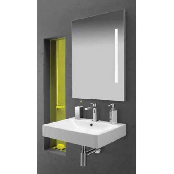 Miroir eclairant fluorescent pour salle de bain - Installer miroir salle de bain ...