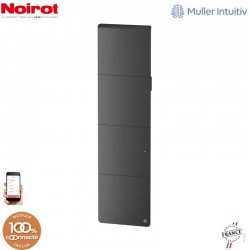 Radiateur Fonte NOIROT AXOO 1500W vertical Gris anthracite connecté NEN3085SEHS