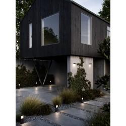 PIANA 50 potelet Aluminium Noir LED integrée 2700K - Nordlux 2019108003