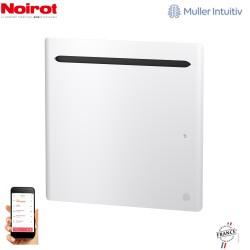 Radiateur Aluminium NOIROT SENSUAL 500W horizontal blanc connecté NEN2481SEEC