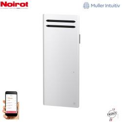 Radiateur Aluminium NOIROT SENSUAL 1000W vertical blanc connecté NEM2493SEEC