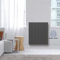 Radiateur Fonte NOIROT BELADOO 1500W horizontal gris anthracite connecté NEN1685SEHS