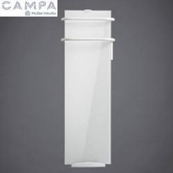 Sèche-serviettes électrique soufflant CAMPA Campaver-bains Select  Lys Blanc 1200W CVVS12BCCB