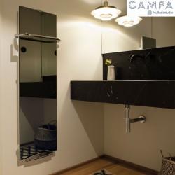 Sèche-serviettes électrique soufflant CAMPA Campaver-bains Select Reflet 1000W CVSC10MIRE