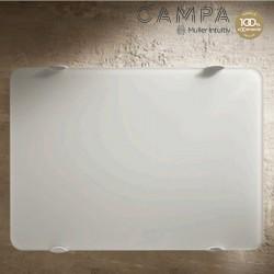 Radiateur électrique horizontal CAMPAVER ultime dépoli blanc 750 W CMUC08HBCBM