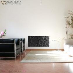 Radiateur à inertie Touch Silicium Ardoise Noire 800W Vertical - Valderoma AN08VET