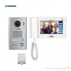 Kit portier Vidéo AIPHONE JPS4AEDV - Ecran 7'' - Platine en saillie - 130318