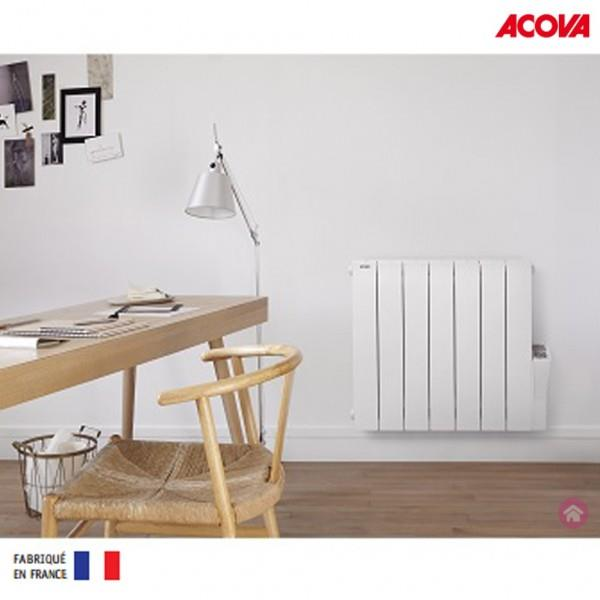 radiateur electrique acova atoll lcd 1000w inertie fluide. Black Bedroom Furniture Sets. Home Design Ideas