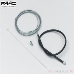 Câble et gaine pour déverrouillage extérieur FAAC - 390488