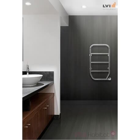 Sèche-serviettes LVI - NILA - 100W FLUIDE - 3835109 - Blanc