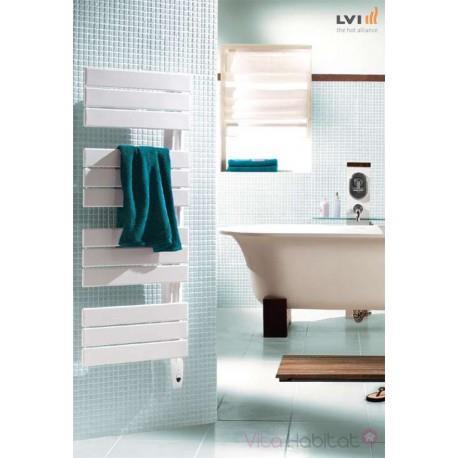 Sèche-serviettes LVI - SILAY IR - 500W FLUIDE - 3870016 Collecteur vertical à gauche