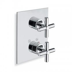DOUCHE FACADE LAITON ENCASTREE EXECUTIVE THERMO 2 SORTIES CHROME - CRISTINA ONDYNA XV85251