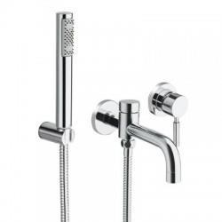 Bain douche encastré avec mitigeur et douchette TRIVERDE - CRISTINA ONDYNA TV17851