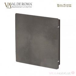 Radiateur à inertie Wifi Ardoise Blanche 800W Carré - Valderoma AB800W