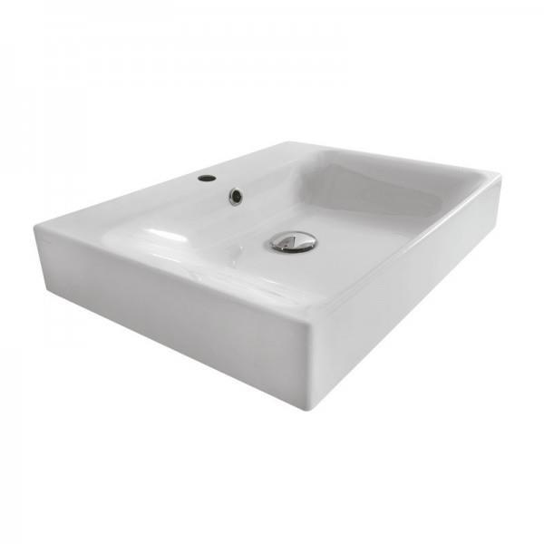 Lavabo Ceramique Cento A Poser Ou A Suspendre 50 45 Cm Blanc Brillan