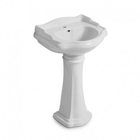Colonne en céramique blanc pour vasque lavabo 64 cm CHAMBORD - CRISTINA ONDYNA WCH6430