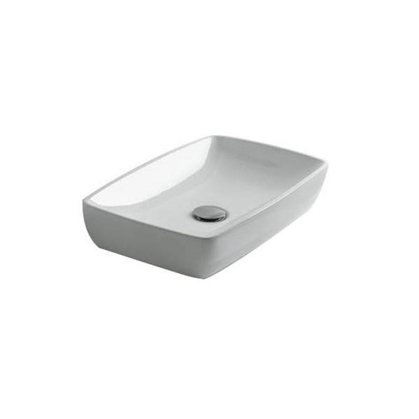Vasque Céramique Blanc Brillant Pour Lavabo à Poser Cristina