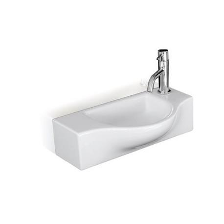 lave mains ceramique peta cm blanc brillant cristina ondyna wpe4409 vita habitat. Black Bedroom Furniture Sets. Home Design Ideas