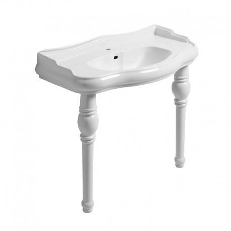 2 pieds en c ramique pour lavabo wpg10509 blanc cristina ondyna wpg1083 vita habitat. Black Bedroom Furniture Sets. Home Design Ideas