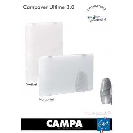 Radiateur Campa CAMPAVER Ultime 3.0 Horizontal Lys blanc - radiateur electrique verre