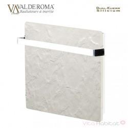 Sèche-serviette à inertie Wifi Ardoise Blanche 800W Carré - Valderoma AB08BSW